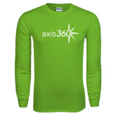 Lime Green Long Sleeve T Shirt-Axis 360