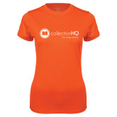 Ladies Syntrel Performance Orange Tee-Collection HQ