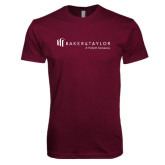 Next Level SoftStyle Maroon T Shirt-Baker and Taylor