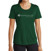 Ladies Performance Dark Green Tee-Baker and Taylor