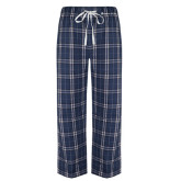 Navy/White Flannel Pajama Pant-Baker and Taylor