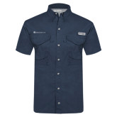 Columbia Tamiami Performance Navy Short Sleeve Shirt-Baker and Taylor