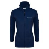 Columbia Ladies Full Zip Navy Fleece Jacket-Baker and Taylor