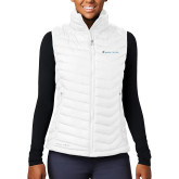 Columbia Lake 22 Ladies White Vest-Baker and Taylor