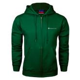Dark Green Fleece Full Zip Hoodie-Baker and Taylor