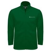 Fleece Full Zip Dark Green Jacket-Baker and Taylor