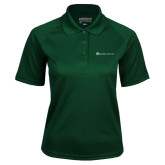 Ladies Dark Green Textured Saddle Shoulder Polo-Baker and Taylor