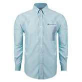 Mens Light Blue Oxford Long Sleeve Shirt-Baker and Taylor