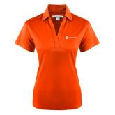 Ladies Orange Performance Fine Jacquard Polo-Collection HQ