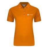 Ladies Easycare Orange Pique Polo-Collection HQ