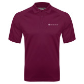 Maroon Textured Saddle Shoulder Polo-Baker and Taylor