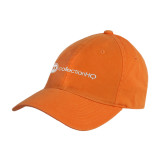 Orange Twill Unstructured Low Profile Hat-Collection HQ