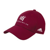 Adidas Maroon Structured Adjustable Hat-Baker and Taylor Stacked