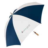 62 Inch Navy/White Umbrella-Baker and Taylor