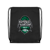 Black Drawstring Backpack-2017 National Basketball Champions