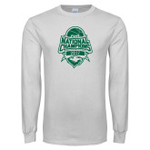 White Long Sleeve T Shirt-2017 National Basketball Champions
