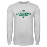 White Long Sleeve T Shirt-2018 Womens Lacrosse Champions