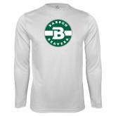 Syntrel Performance White Longsleeve Shirt-Babson Design
