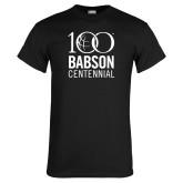 Black T Shirt-Centennial Mark Vertical