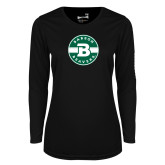 Ladies Syntrel Performance Black Longsleeve Shirt-Babson Design