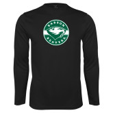 Performance Black Longsleeve Shirt-Mascot Design
