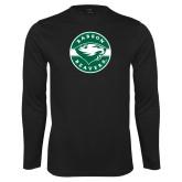 Syntrel Performance Black Longsleeve Shirt-Mascot Design