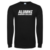 Black Long Sleeve T Shirt-Babson Alumni