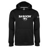 Under Armour Black Performance Sweats Team Hoodie-Secondary Mark