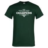 Dark Green T Shirt-2018 Womens Lacrosse Champions
