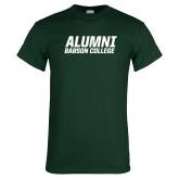 Dark Green T Shirt-Babson Alumni