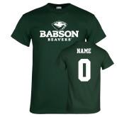 Dark Green T Shirt-Primary Mark, Custom Tee w/ Name and #