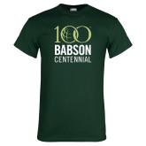 Dark Green T Shirt-Centennial Mark Vertical