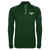 Under Armour Dark Green Tech 1/4 Zip Performance Shirt-Secondary Mark