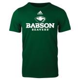 Adidas Dark Green Logo T Shirt-Primary Mark