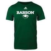 Adidas Dark Green Logo T Shirt-Secondary Mark
