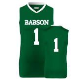 Replica Dark Green Adult Basketball Jersey-#1