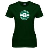 Ladies Dark Green T Shirt-Babson Design