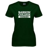 Ladies Dark Green T Shirt-GO BABO