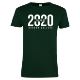 Ladies Dark Green T Shirt-Class of Design