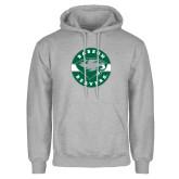 Grey Fleece Hoodie-Mascot Design