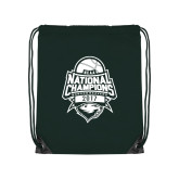 Dark Green Drawstring Backpack-2017 National Basketball Champions