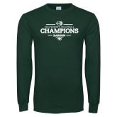 Dark Green Long Sleeve T Shirt-2018 NEWMAC Womens Volleyball Champions