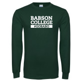 Dark Green Long Sleeve T Shirt-GO BABO