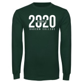Dark Green Long Sleeve T Shirt-Class of Design