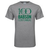 Grey T Shirt-Centennial Mark Vertical