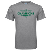 Grey T Shirt-2018 Womens Lacrosse Champions