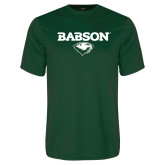 Performance Dark Green Tee-Secondary Mark