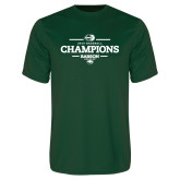 Performance Dark Green Tee-2018 Baseball Champions