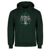 Dark Green Fleece Hood-2017 National Basketball Champions