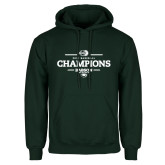 Dark Green Fleece Hood-2018 Baseball Champions
